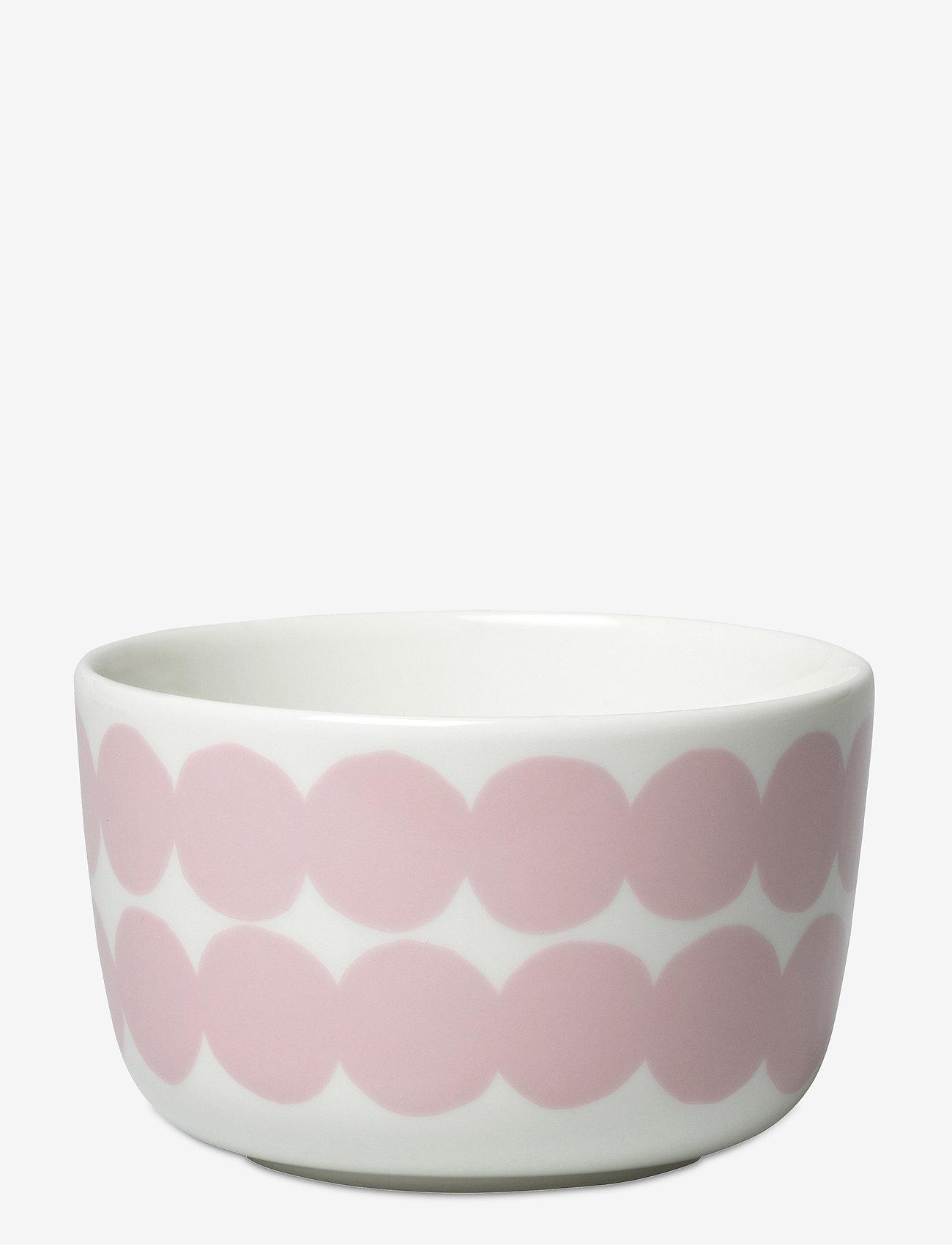 Marimekko Home - SIIRTOLAPUUTARHA BOWL - serveringsskåler - white, pink - 0