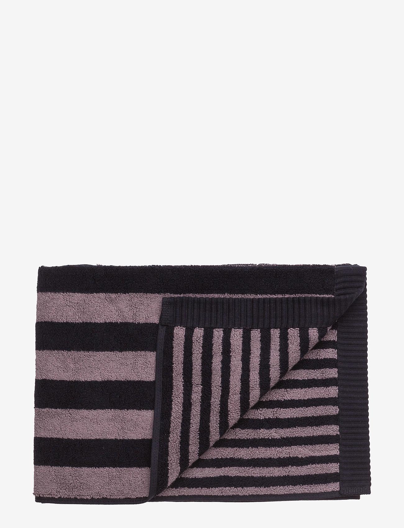 Marimekko Home - KAKSI RAITAA GUEST TOWEL - håndklæder - grey, black - 0