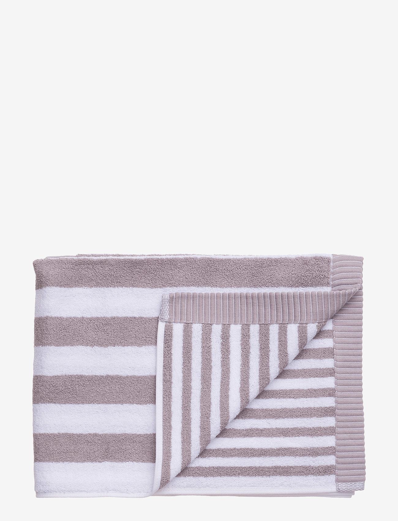 Marimekko Home - KAKSI RAITAA GUEST TOWEL - hand towels & bath towels - grey, white - 0