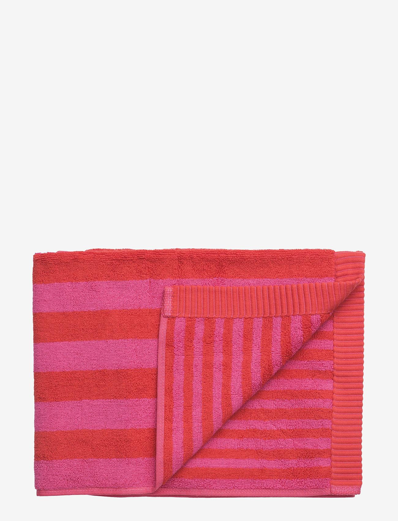 Marimekko Home - KAKSI RAITAA HAND TOWEL - ręczniki kąpielowe - red, red - 0