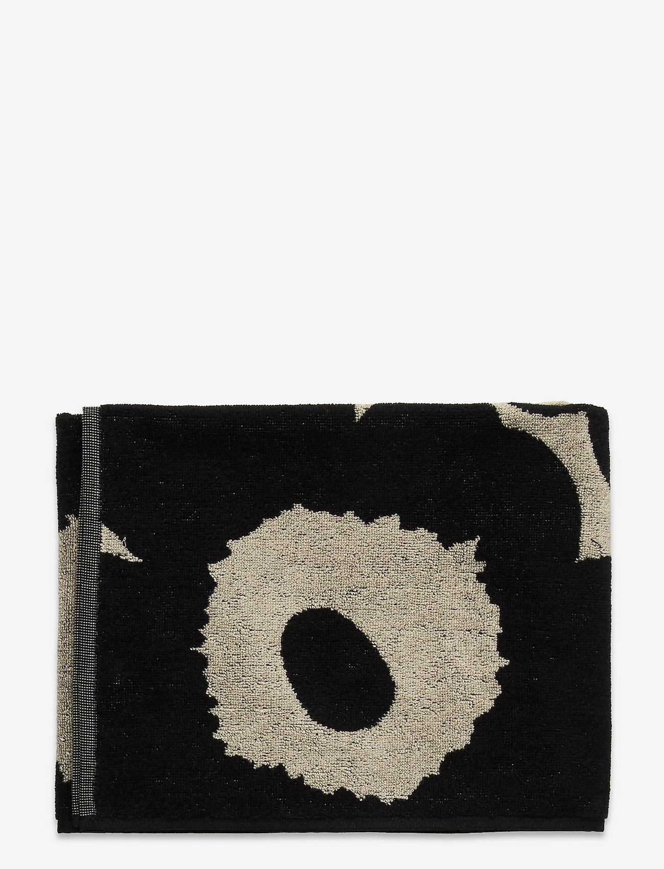 Marimekko Home - TIILISKIVI HAND TOWEL - towels - black, white - 0