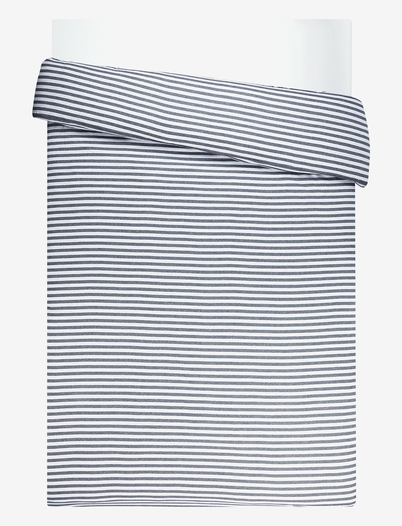 Marimekko Home - TASARAITA DUVET COVER 240X220CM - housses de couette - white, grey - 0
