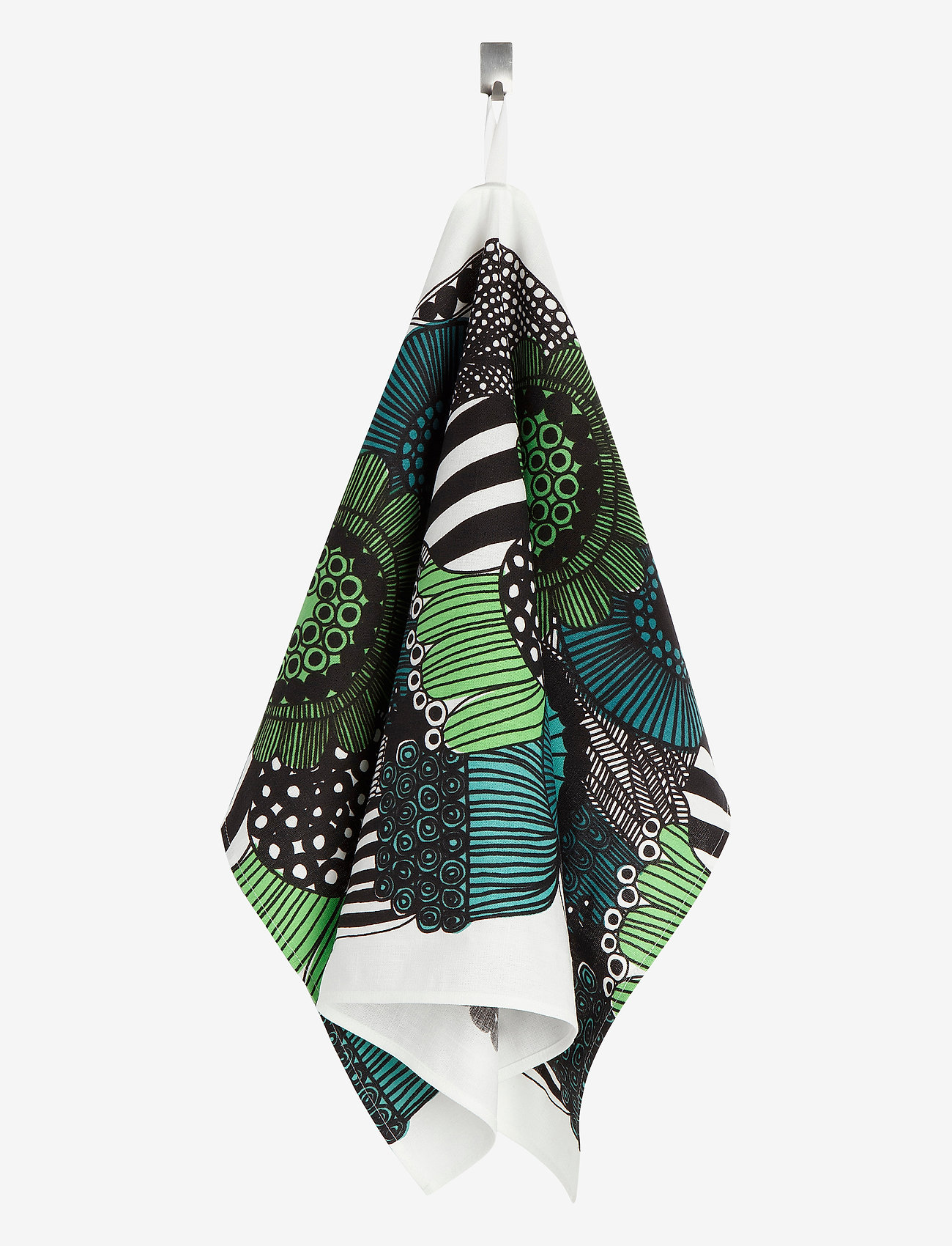 Marimekko Home - SIIRTOLAPUUTARHA TEA TOWEL - viskestykker - white, green, black - 1