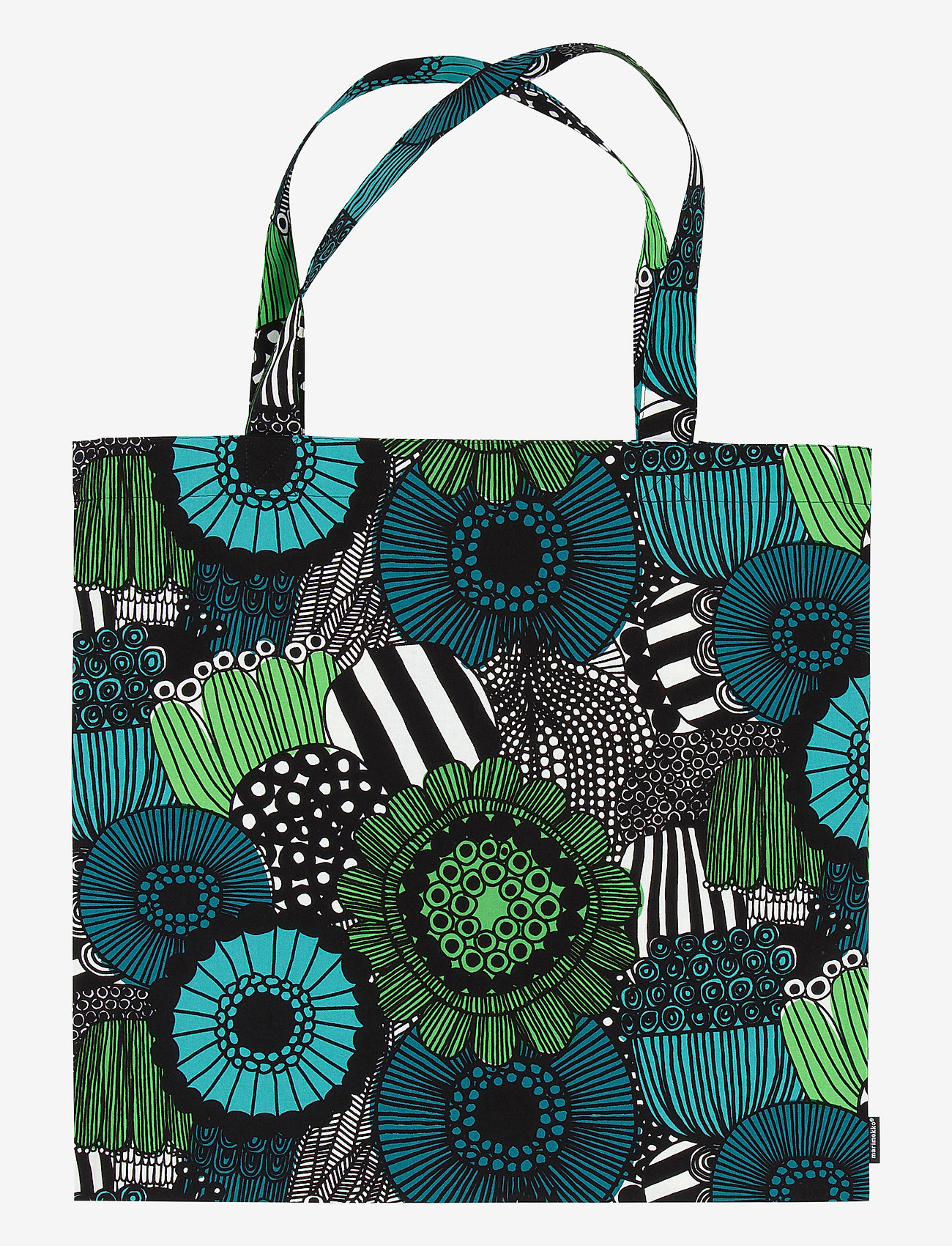 Marimekko Home - PIENI SIIRTOLAPUUTARHA BAG - tote bags - white, green, black - 0