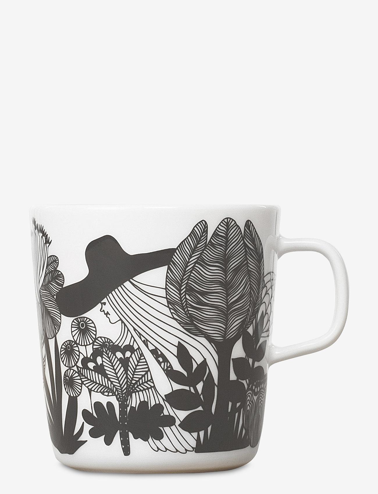 Marimekko Home - SIIRTOLAPUUTARHA MUG - kaffekopper - white, black, pink - 1