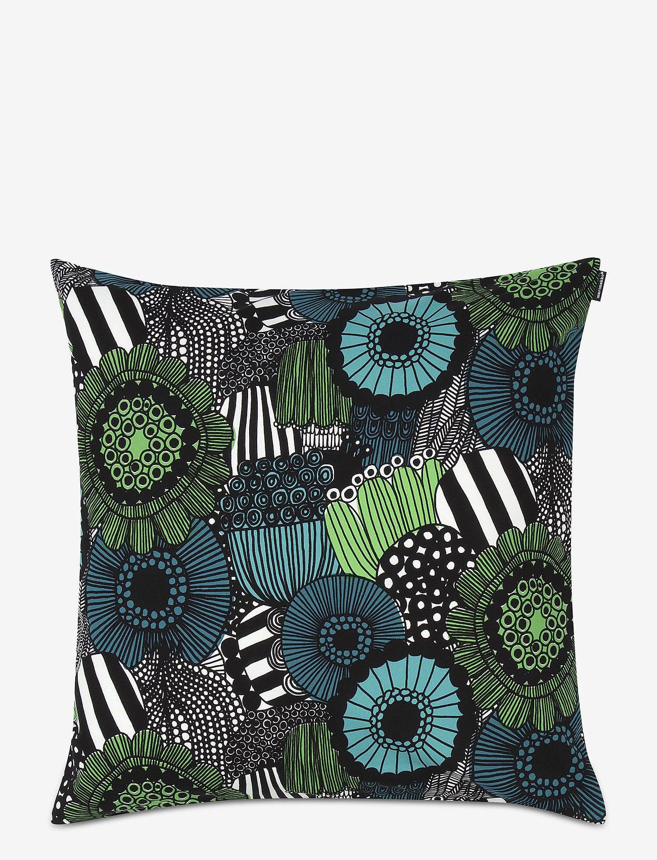 Marimekko Home - PIENI SIIRTOLAPUUTARHA CUSHION COVER - poszewki na poduszki ozdobne - white, green - 0