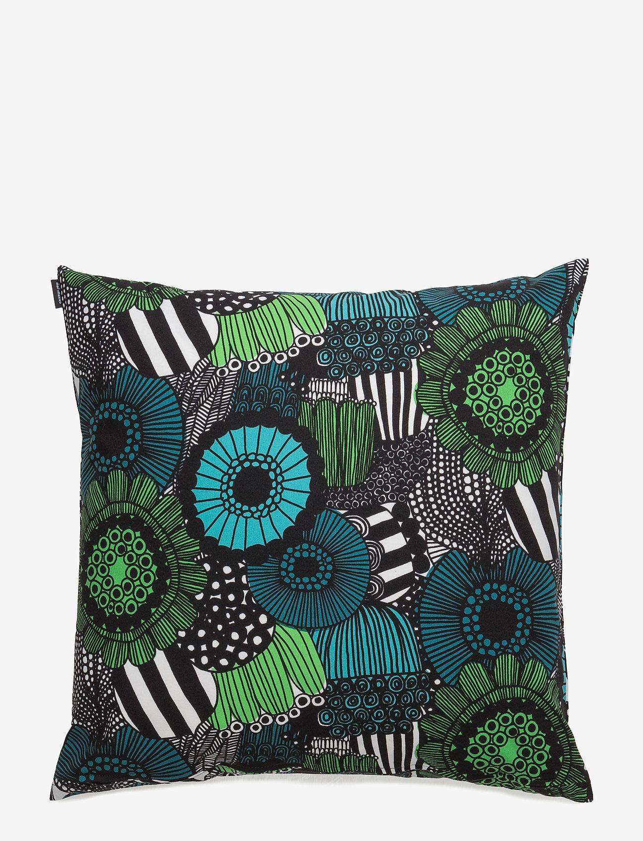 Marimekko Home - PIENI SIIRTOLAPUUTARHA CUSHION COVER - poszewki na poduszki ozdobne - white, green - 1
