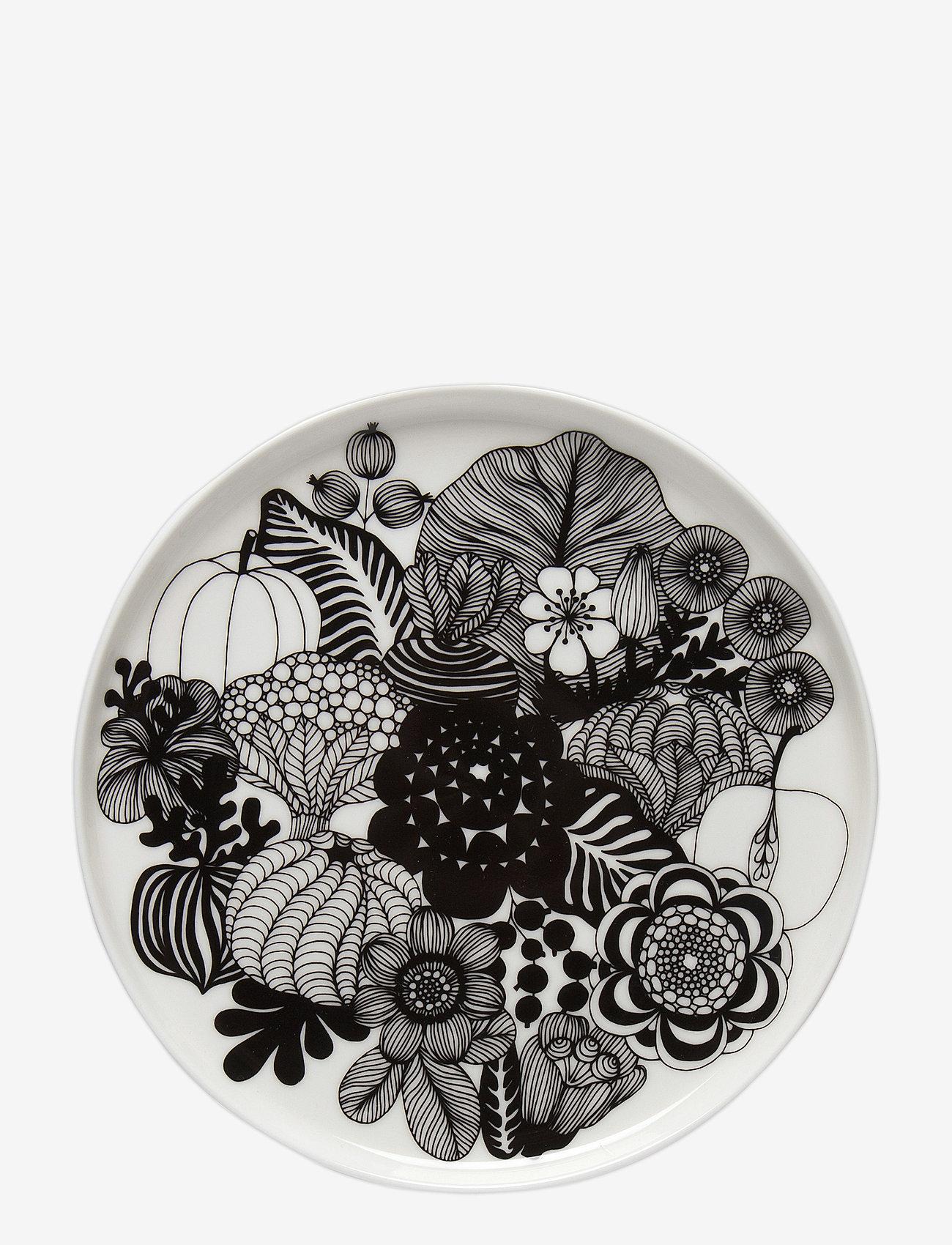 Marimekko Home - SIIRTOLAPUUTARHA PLATE - white, black - 0