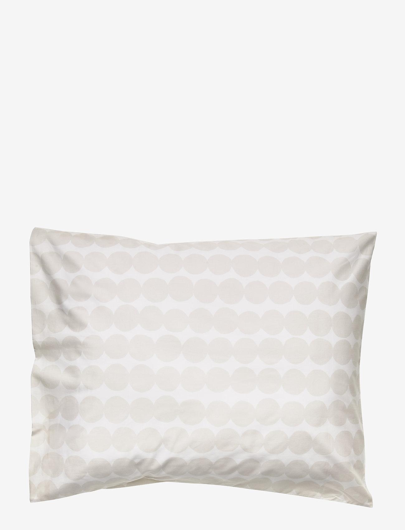 Marimekko Home - RÄSYMATTO PILLOW CASE - taies d'oreiller - white, light grey - 0