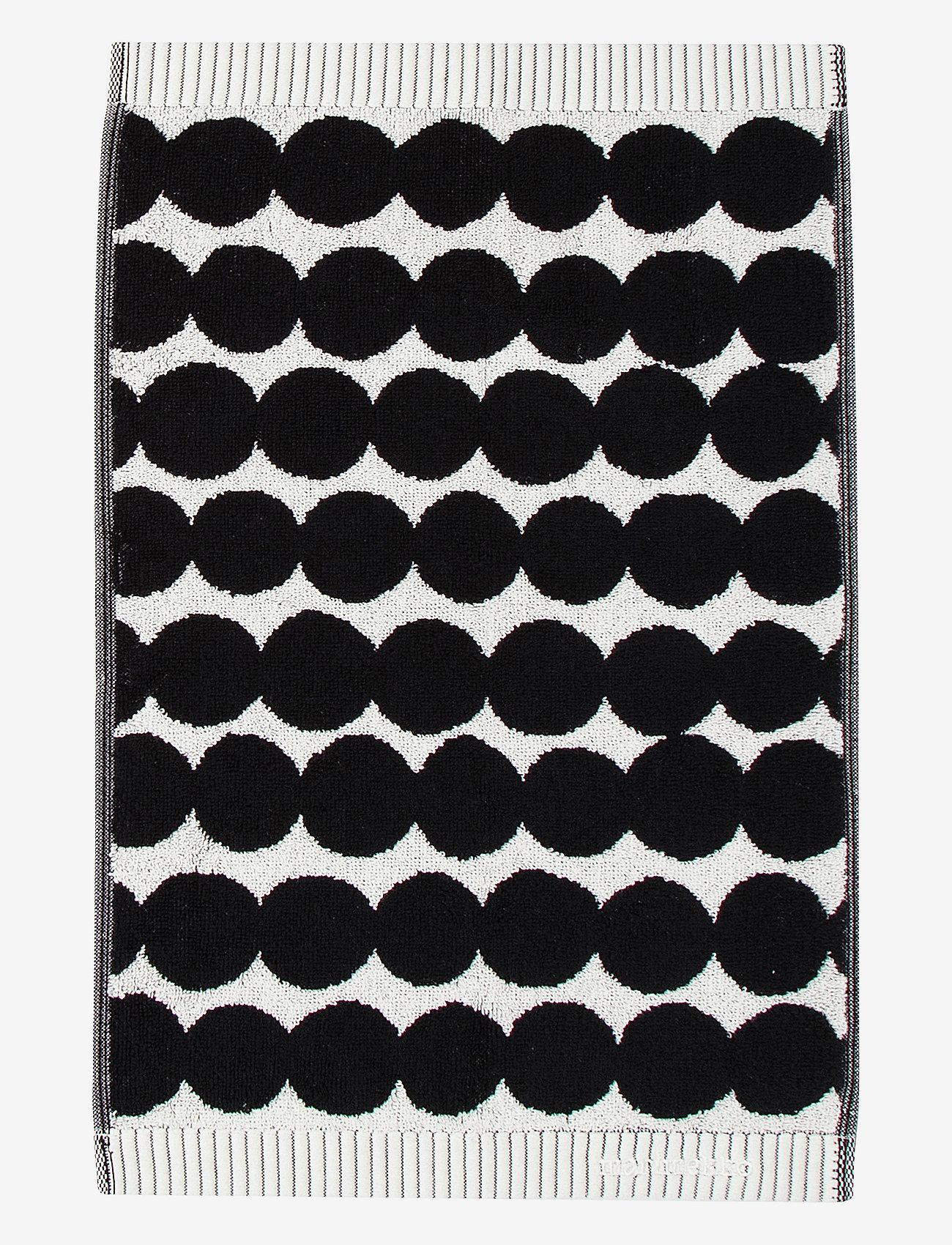 Marimekko Home - RÄSYMATTO GUEST TOWEL - håndklæder - white, black - 0