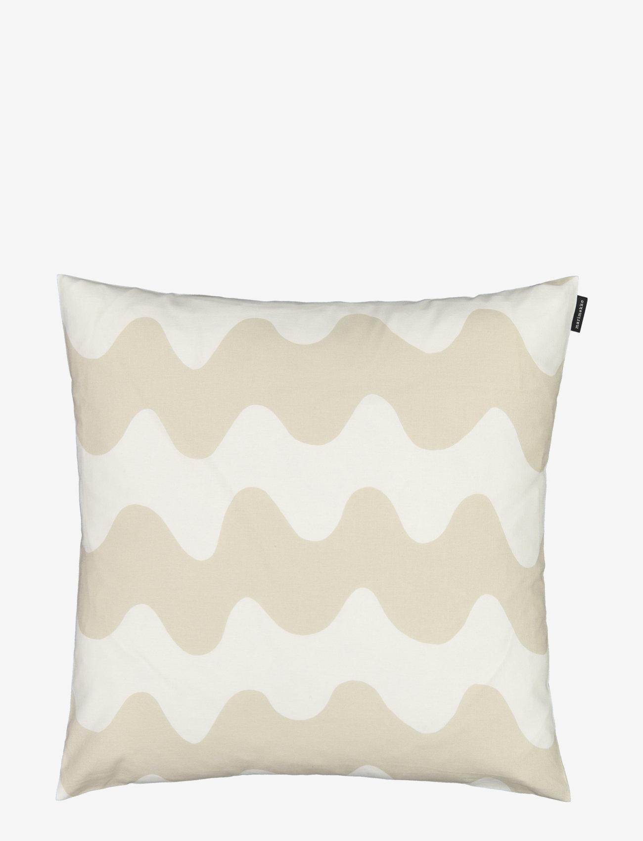 Marimekko Home - PIKKULOKKI CUSHION COVER - taie d'oreiller - white, beige - 0