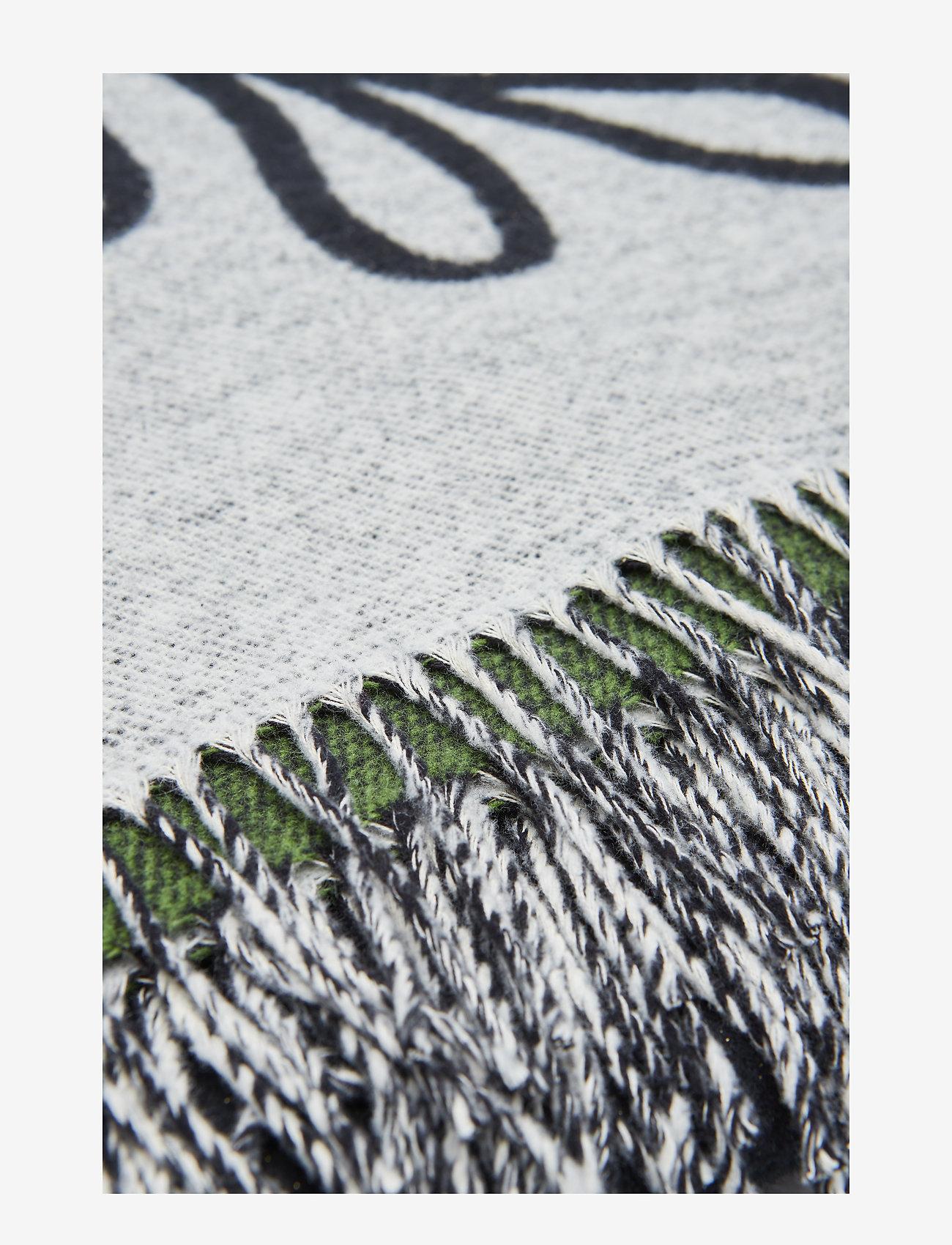 Marimekko Home - ELÄKÖÖN ELÄMÄ BLANKET - tæpper - white, black, green