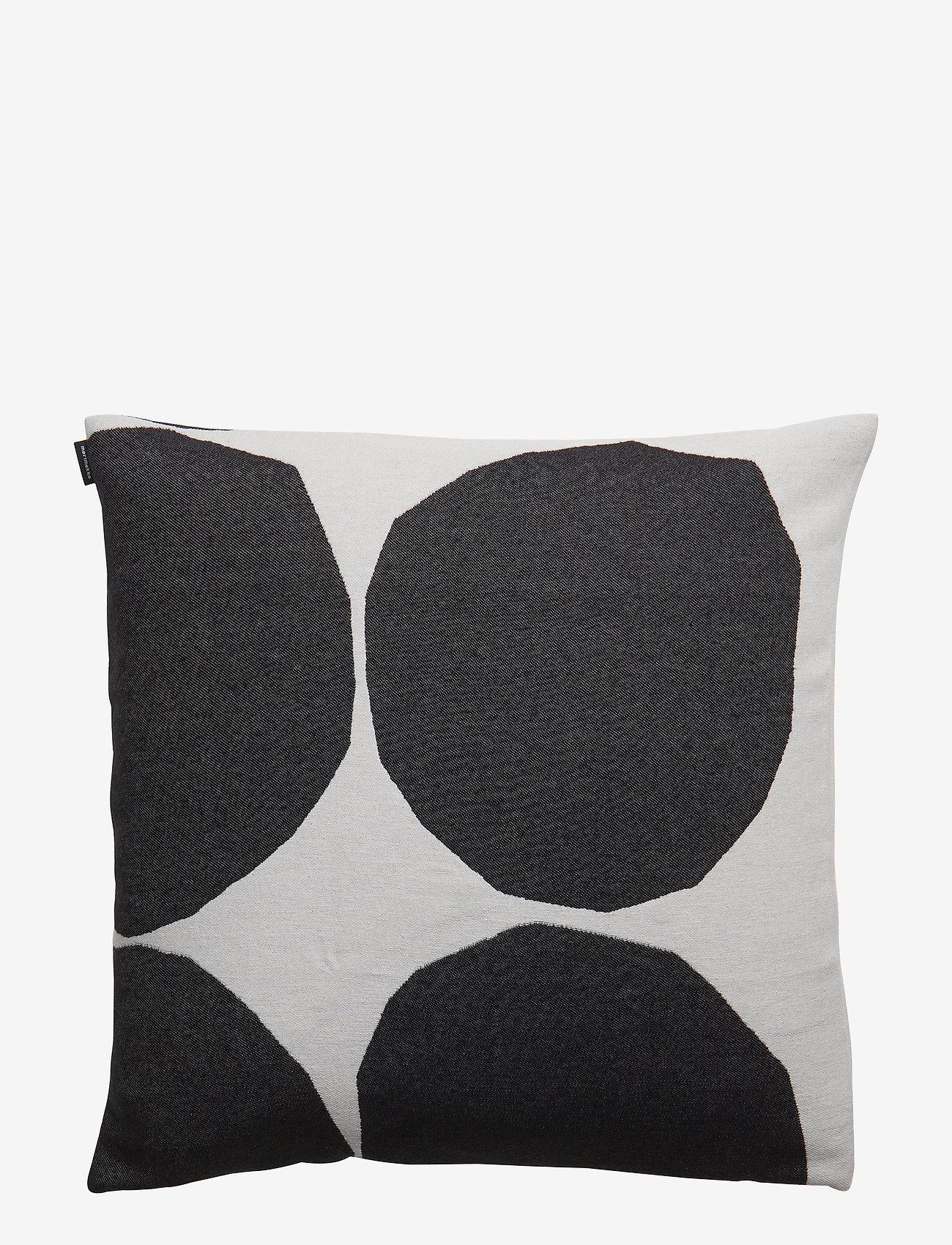 Marimekko Home - KIVET CUSHION COVER - pudebetræk - off white, black - 0