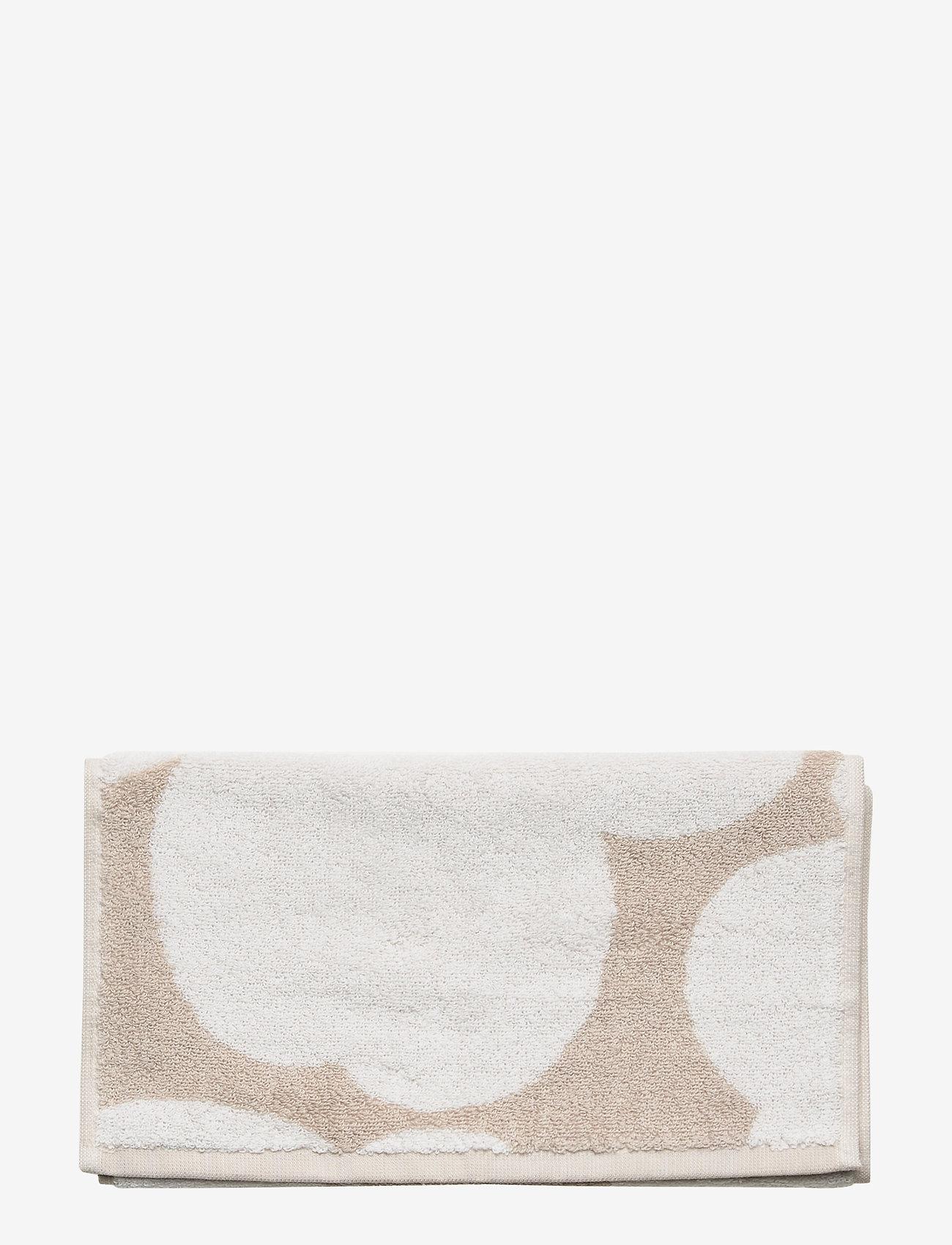 Marimekko Home - UNIKKO GUEST TOWEL - håndklæder - beige, white - 0