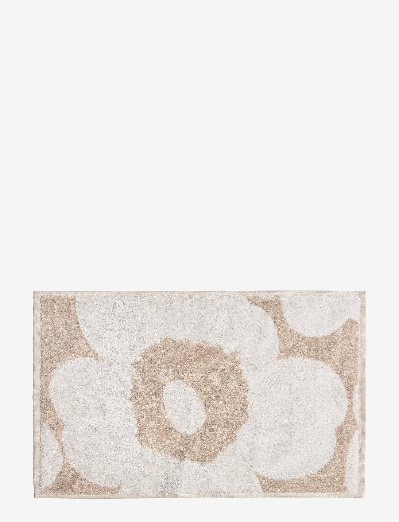 Marimekko Home - UNIKKO GUEST TOWEL - håndklæder - beige, white - 1