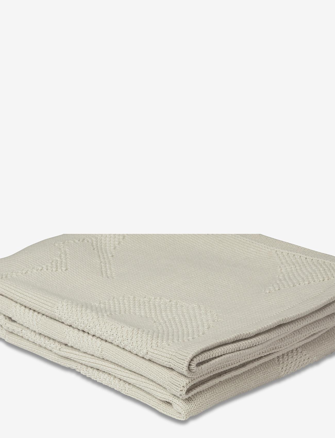 Marimekko Home - UNIKKO KNITTED BLANKET - blankets - off-white - 0