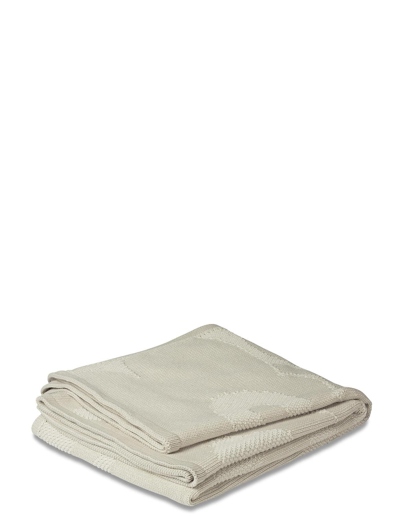 Marimekko Home - UNIKKO KNITTED BLANKET - blankets - off-white - 1
