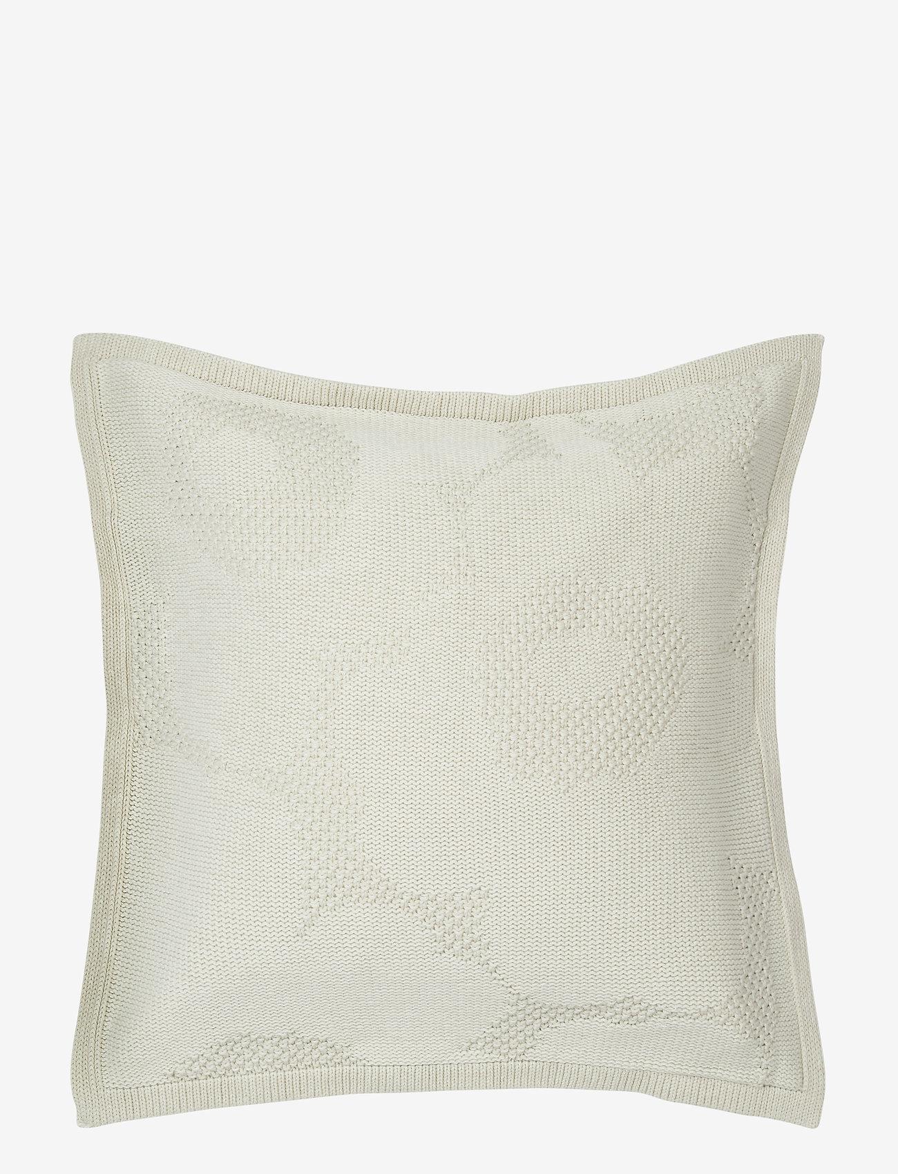 Marimekko Home - UNIKKO KNITTED CUSHION COVER - puder - off-white - 0