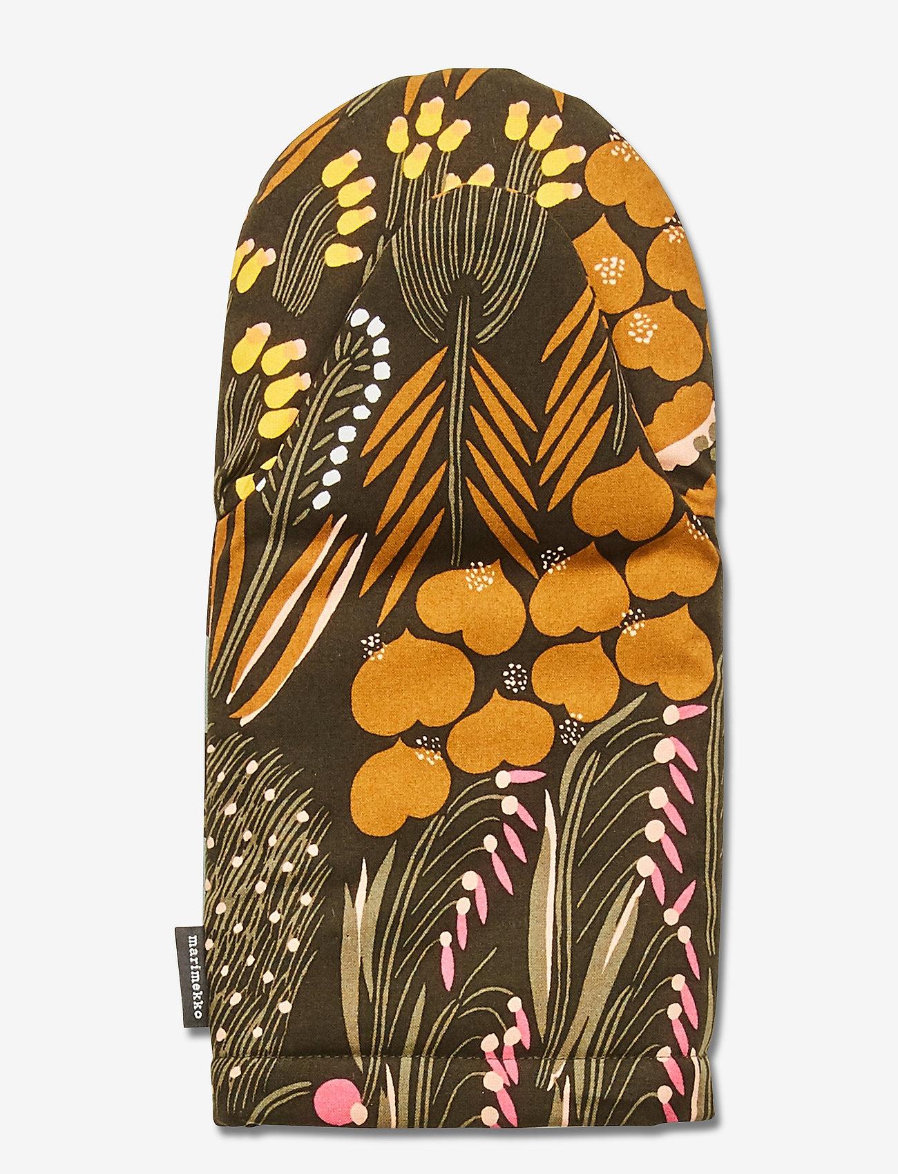 Marimekko Home - PIENI LETTO OVENMITTEN - accessoires - dark green, brown, peach - 1