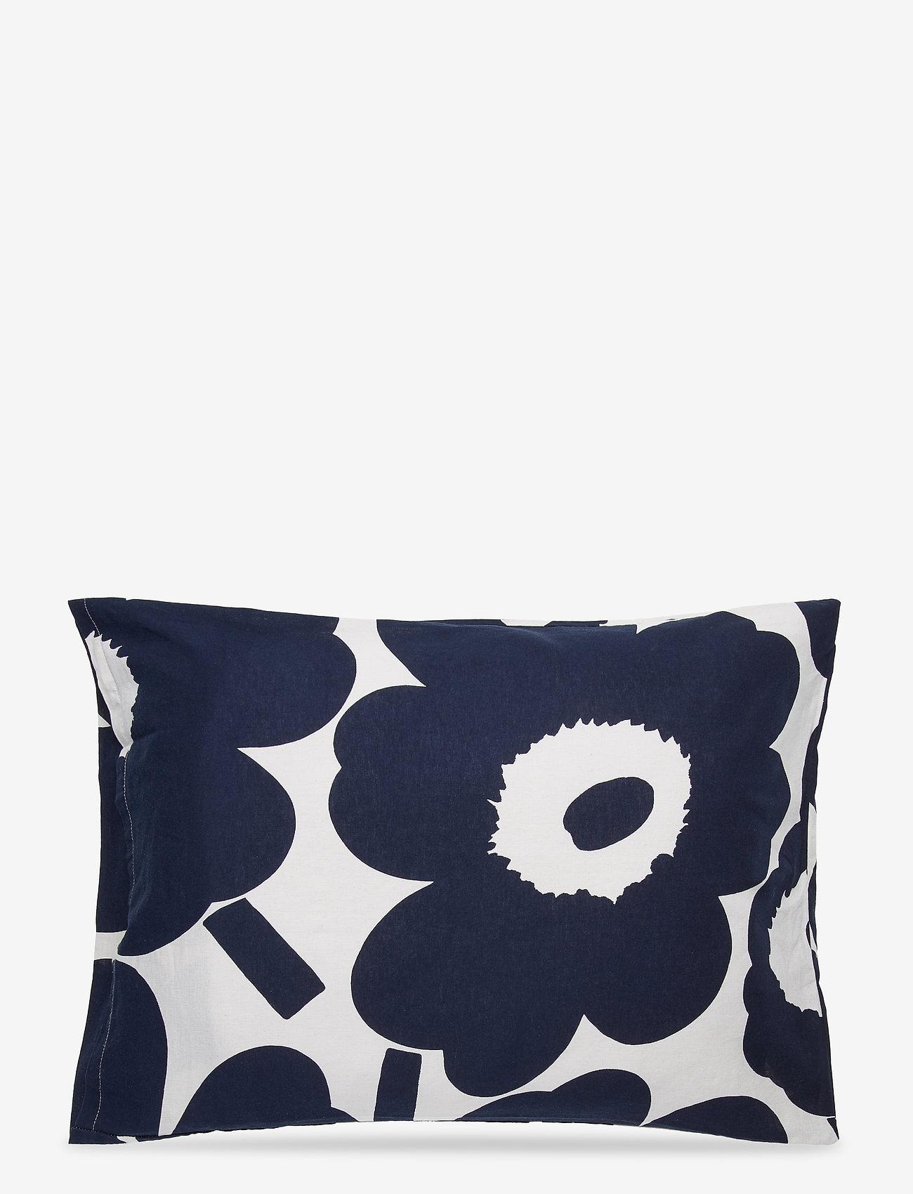 Marimekko Home - UNIKKO CO/LI DC - pillowcases - cotton, dark blue - 1