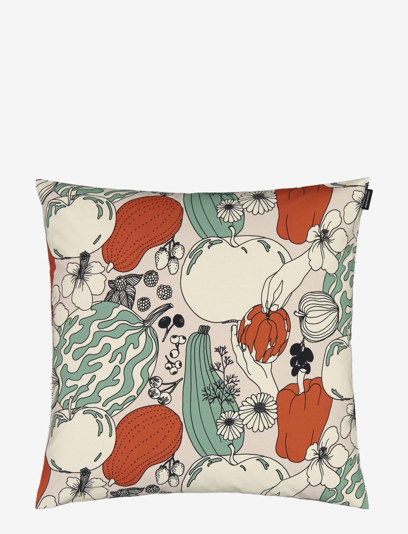Marimekko Home - VIHANNESMAA C.COVER - coussins - red, green - 0