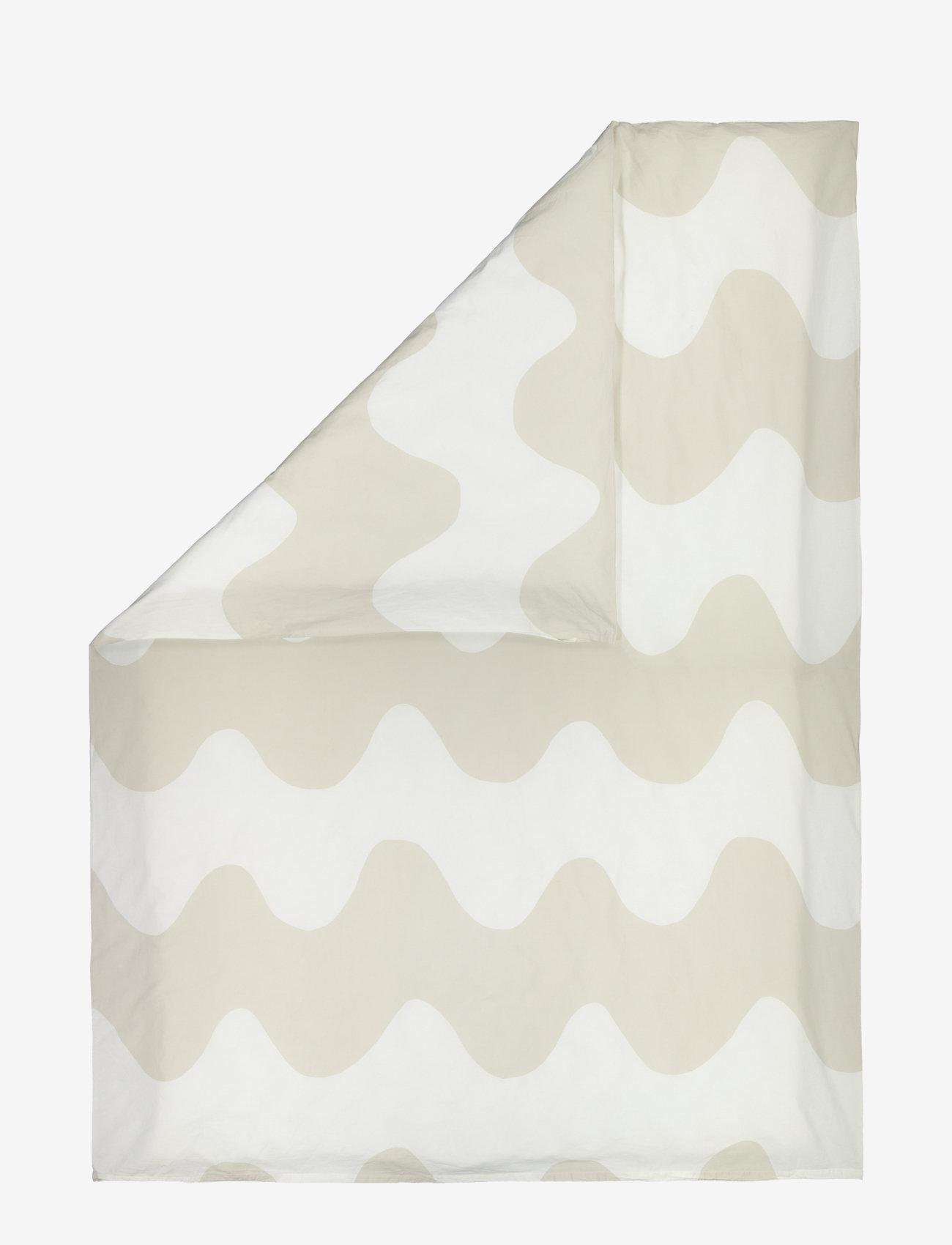 Marimekko Home - LOKKI DUVET COVER - dynebetræk - white, beige - 0