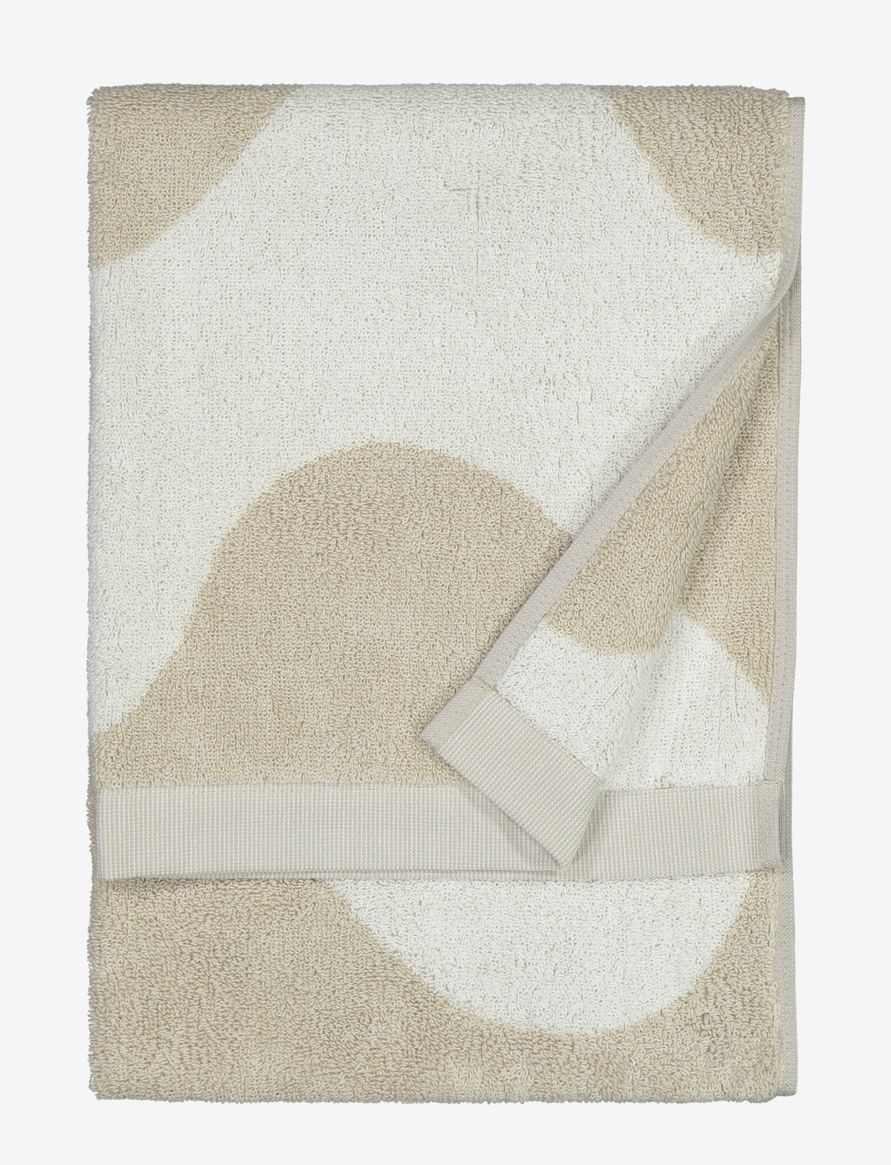 Marimekko Home - LOKKI HAND TOWEL - hand towels & bath towels - beige, white - 0