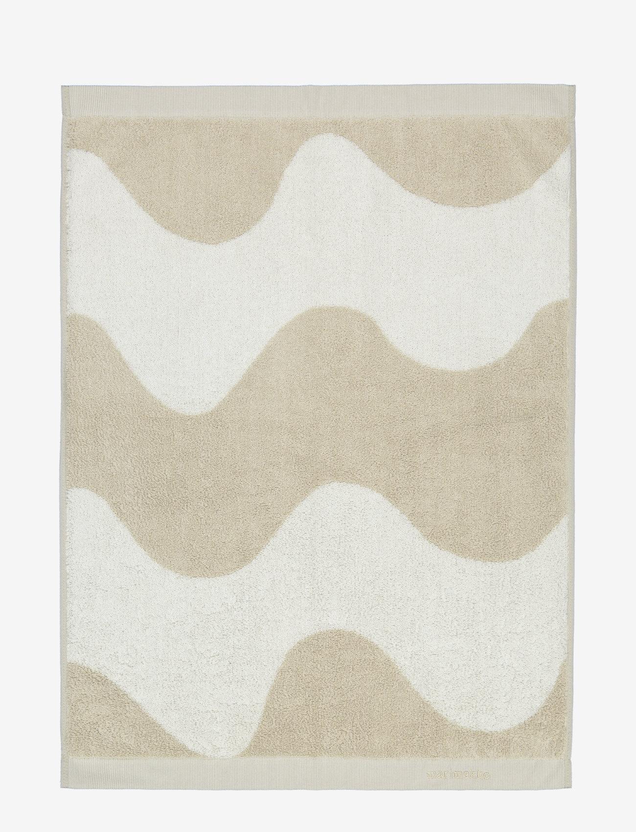 Marimekko Home - LOKKI HAND TOWEL - hand towels & bath towels - beige, white - 1