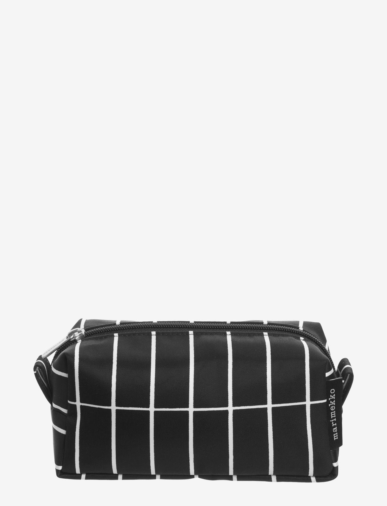 Marimekko Home - TIISE PIENI TIILISKIVI COSMETIC BAG - toilettasker - black/white - 0