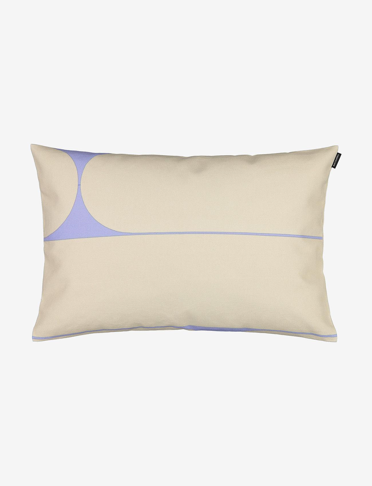 Marimekko Home - PUTKI CUSHION COVER - coussins - beige, blue - 0