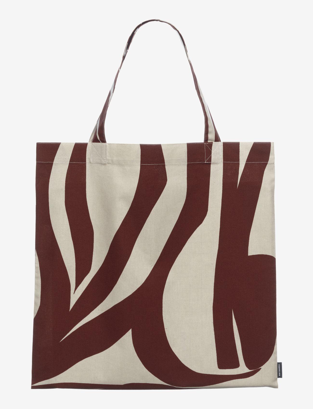 Marimekko Home - JOKURAITA BAG - tote bags - beige, brown - 0