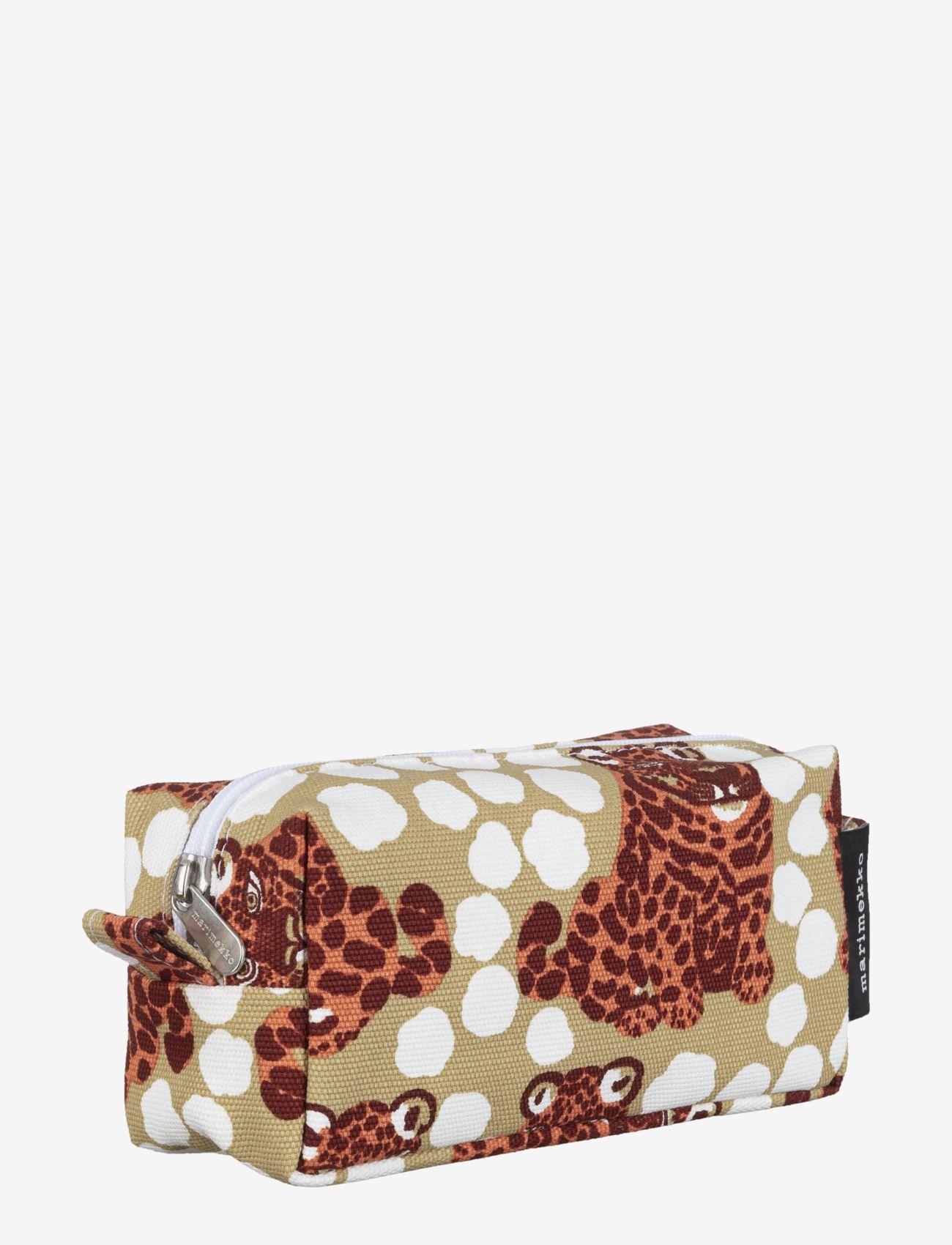 Marimekko Home - TIISE KAKSOSET COSMETIC BAG - toilettasker - beige, burgundy, orange - 1
