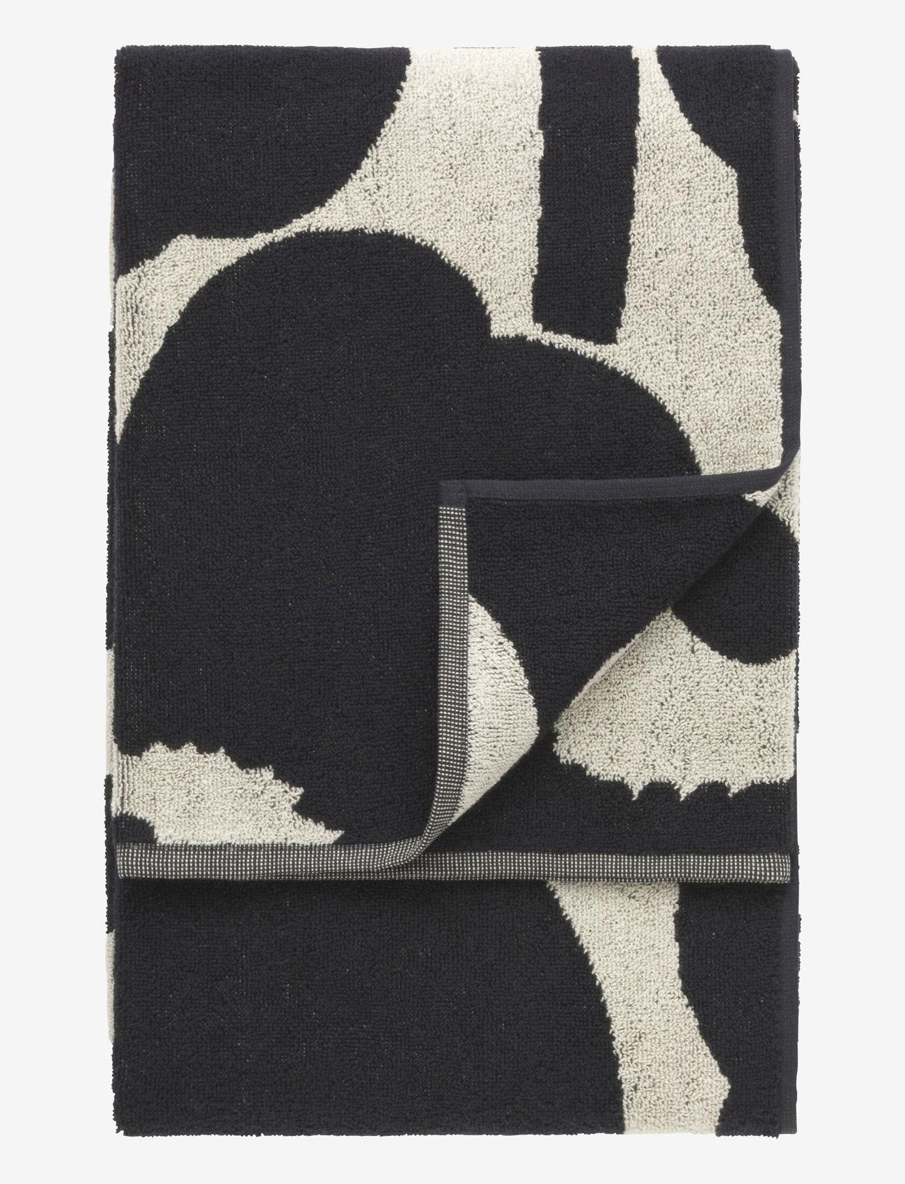 Marimekko Home - UNIKKO BATH TOWEL 70X150 CM - håndklæder - black/sand - 0