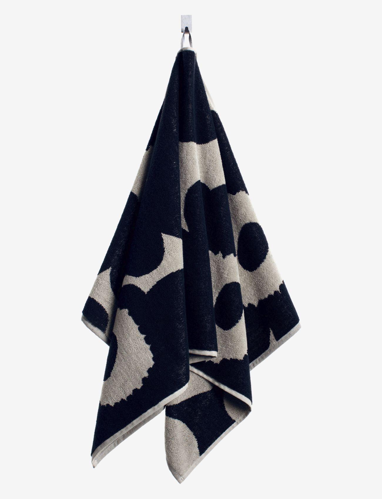 Marimekko Home - UNIKKO HAND TOWEL 50X70 CM - håndklæder - black/sand - 0