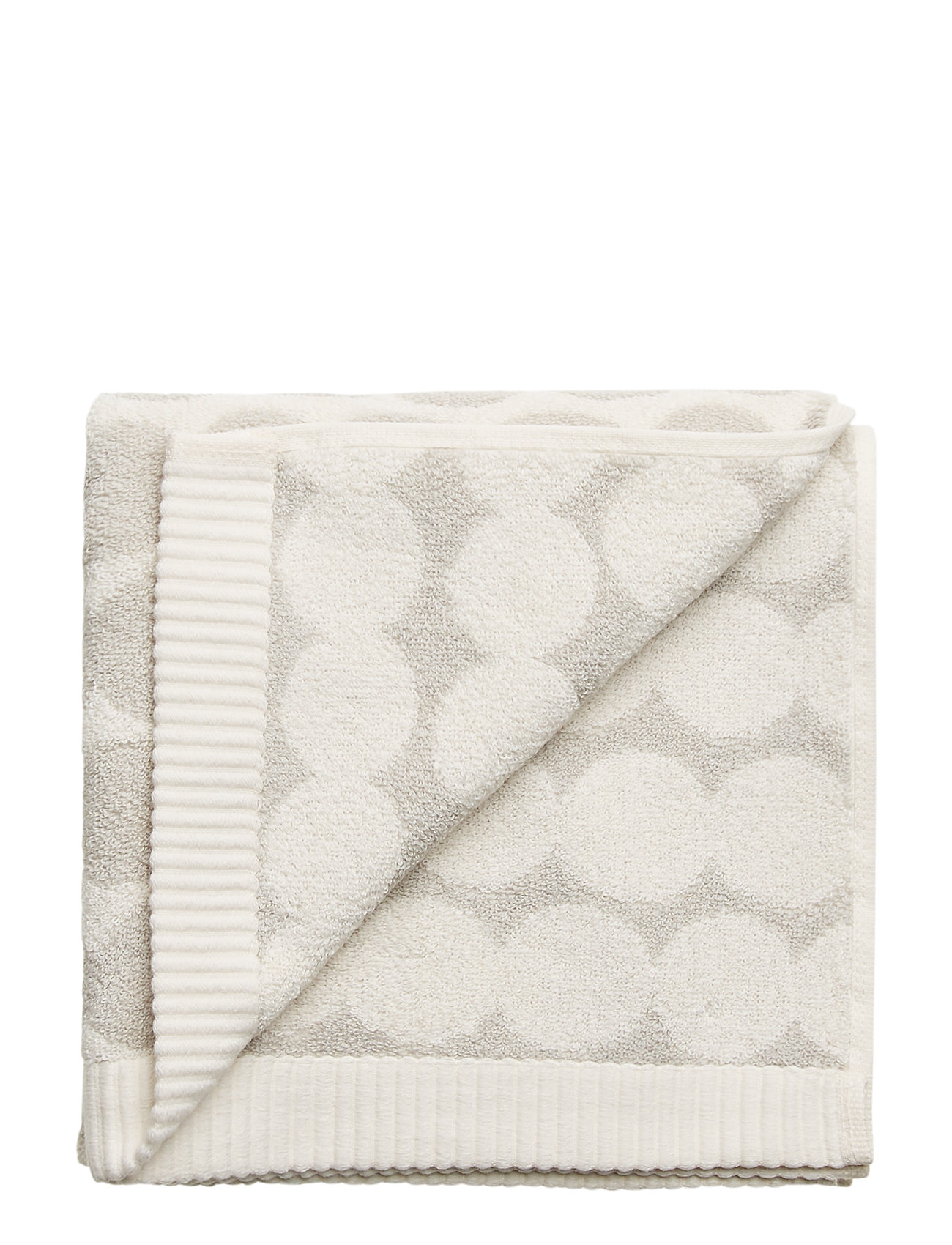 Marimekko Home RÄSYMATTO HAND TOWEL - WHITE, LIGHT GREY