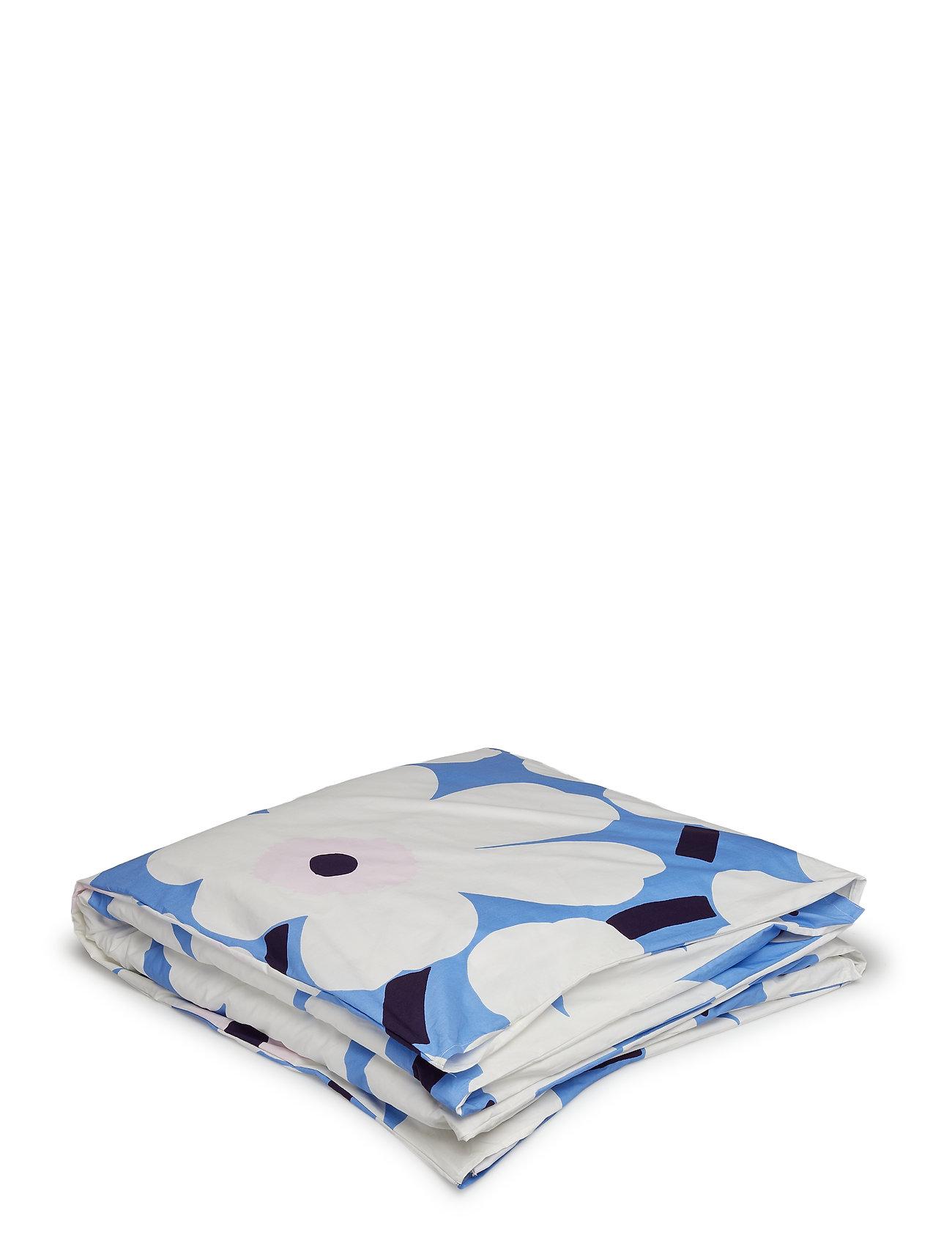 Marimekko Home UNIKKO DUVET COVER - SKY BLUE, OFF-WHITE, PLUM