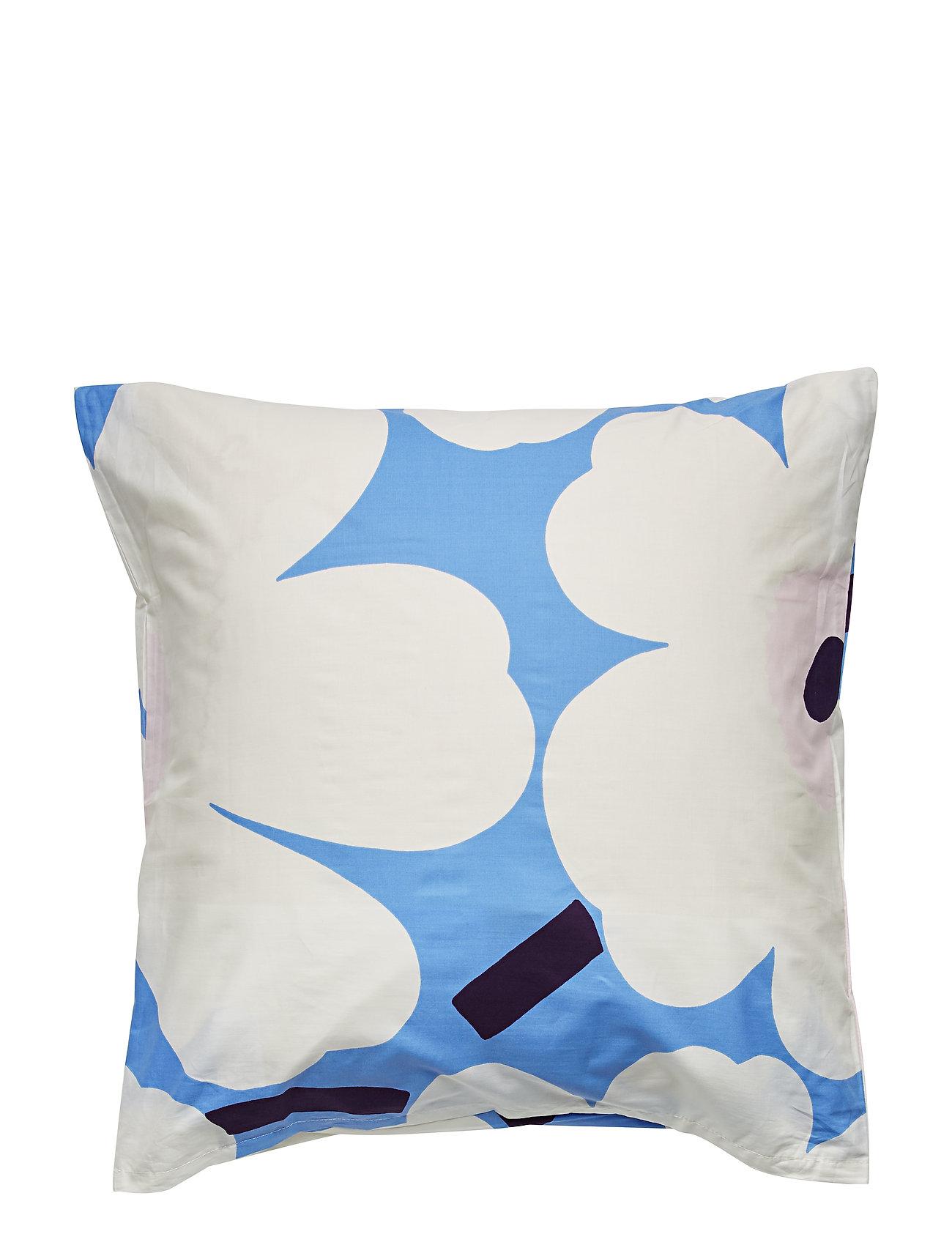 Marimekko Home UNIKKO PILLOW CASE - SKY BLUE, OFF-WHITE, PLUM