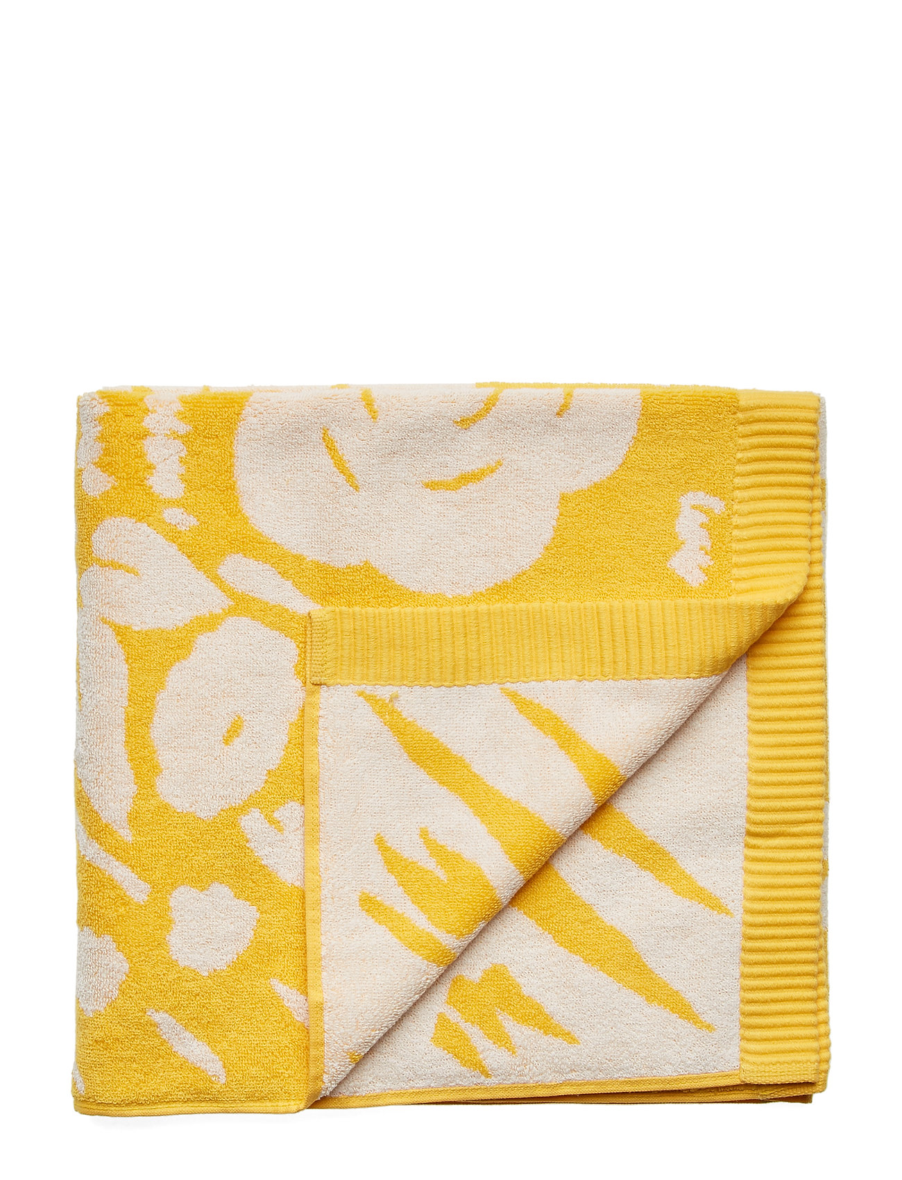 Marimekko Home ONNI BATHTOWEL - YELLOW, WHITE