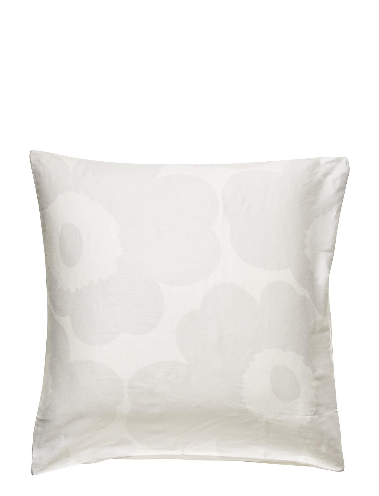 Marimekko Home Unikko Satin pillow case - WHITE, LIGHT GREY