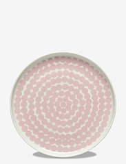 Marimekko Home - SIIRTOLAPUUTARHA PLATE - middagstallerkener - white, pink - 0