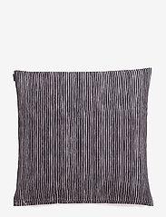 Marimekko Home - VARVUNRAITA CUSHION COVER - poszewki na poduszki ozdobne - black, white - 1