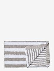 Marimekko Home - KAKSI RAITAA HAND TOWEL - ręczniki kąpielowe - grey, white - 0
