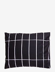 Marimekko Home - TIILISKIVI PILLOW CASE - taies d'oreiller - black, white - 0