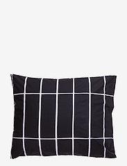 Marimekko Home - TIILISKIVI PILLOW CASE - taies d'oreiller - black, white - 1