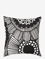 Marimekko Home - SIIRTOLAPUUTARHA CUSHION COVER - housses de coussins - white, black - 0
