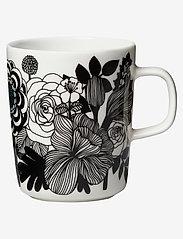 Marimekko Home - SIIRTOLAPUUTARHA MUG 2,5 DL - white, black, turquoise - 0
