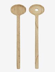Marimekko Home - OIVA / SALAD SERVERS - light brown - 0