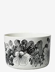 Marimekko Home - SIIRTOLAPUUTARHA BOWL - serverings & anretningsfade - white, black - 0
