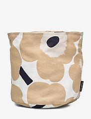 Marimekko Home - PIENI UNIKKO BREAD BASKET - accessories - off-white, beige, dark blue - 0