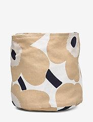 Marimekko Home - PIENI UNIKKO BREAD BASKET - accessories - off-white, beige, dark blue - 2